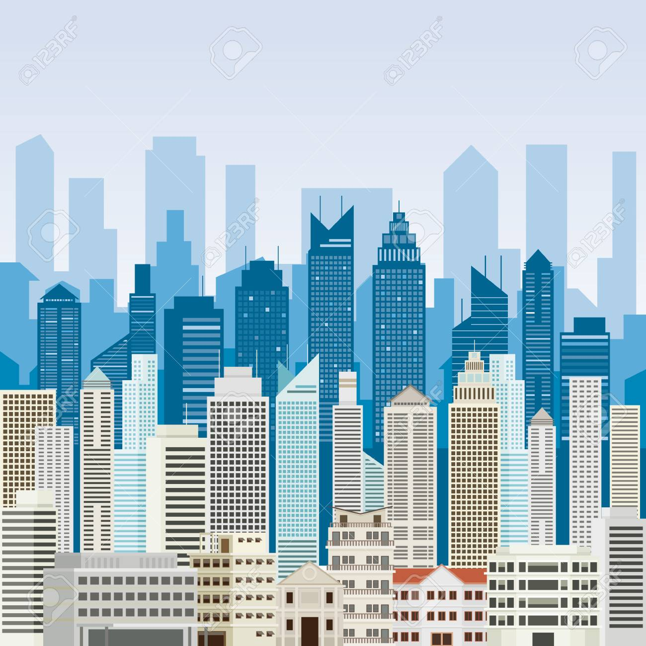 Buildings And Skyscrapers Background Cityscape City Urban 1300x1300