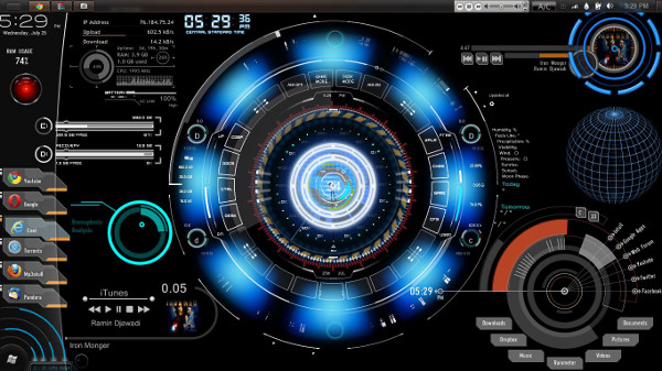 JARVIS Theme Tony Stark Iron Man 600x337