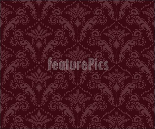 Burgundy Seamless Floral Ornament Illustration High Resolution 500x417
