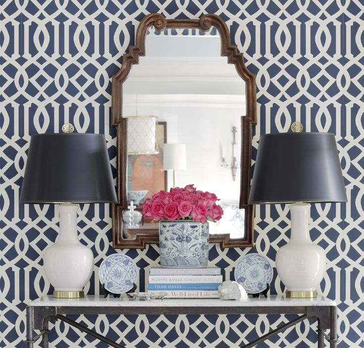Wallpaper and murals are trending now in interior design 736x703