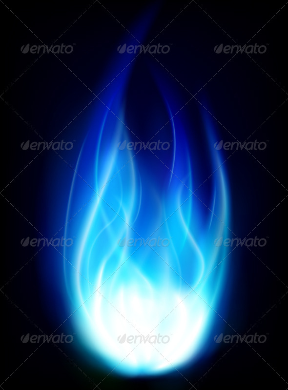 Blue Burning Fire Flame Background GraphicRiver 590x800