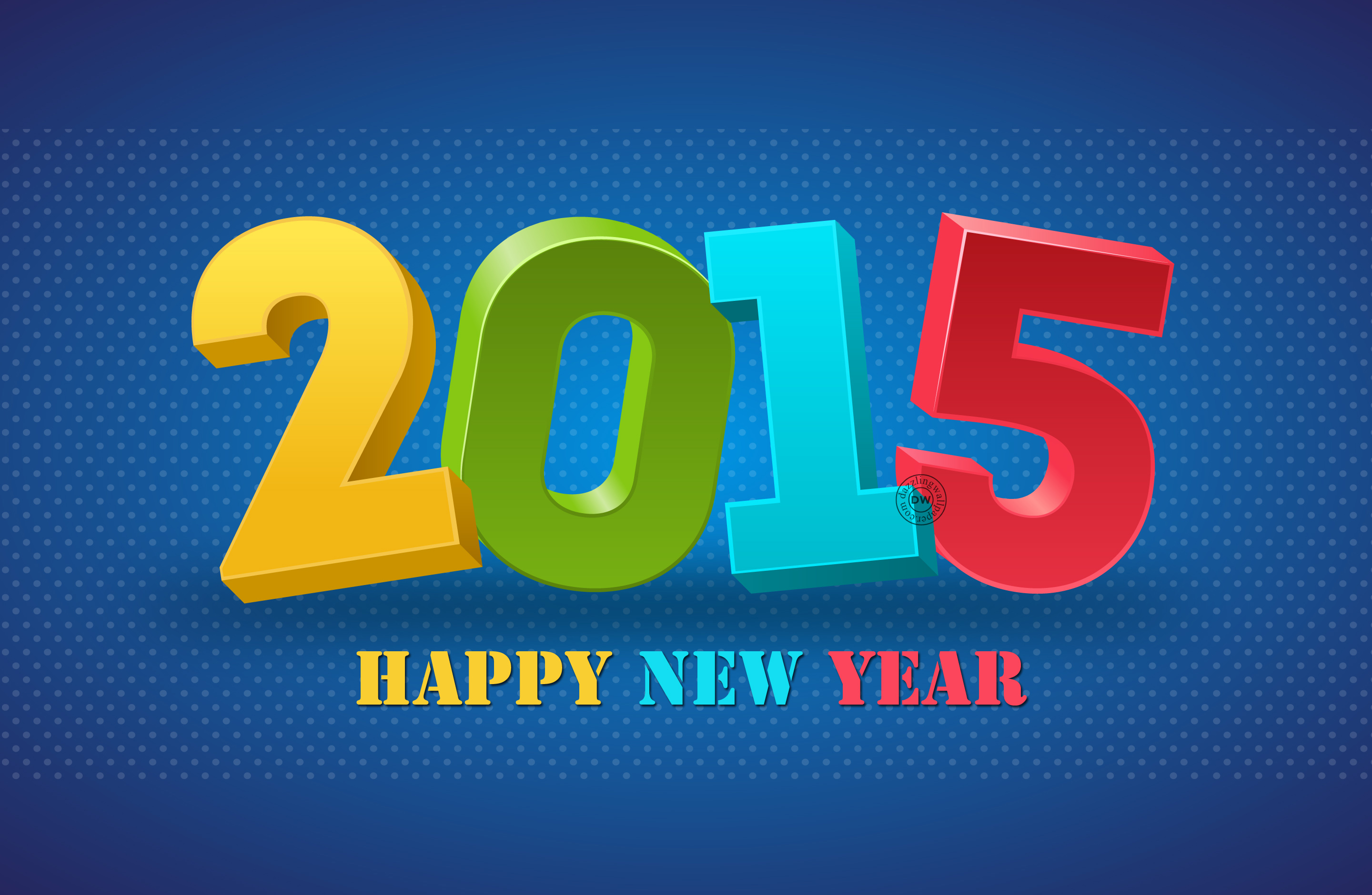Blue Happy New Year 2015 Wallpapers HD Picture 829829   Ongur 2880x1880