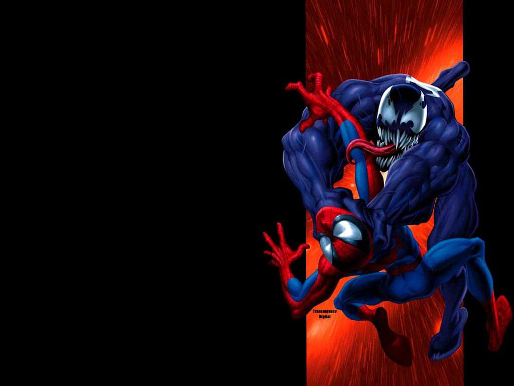 Ultimate Spiderman Venom Wallpaper Ultimate spider man and venom 1024x768