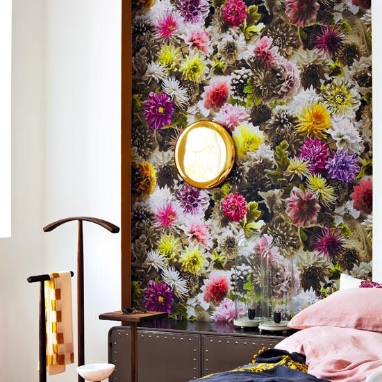 Bold florals modern paint and wallpaper ideas housetohomecouk 550x550