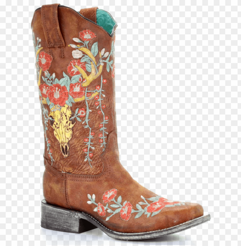 corral boots ladies tan deer skull overlay square   cowboy boot 840x859