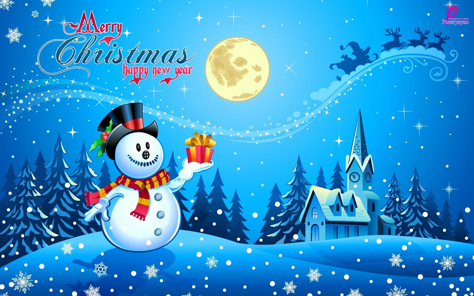 Happy Holiday for Kids Merry Christmas eCards Wallpaper Happy New Year 1600x1000