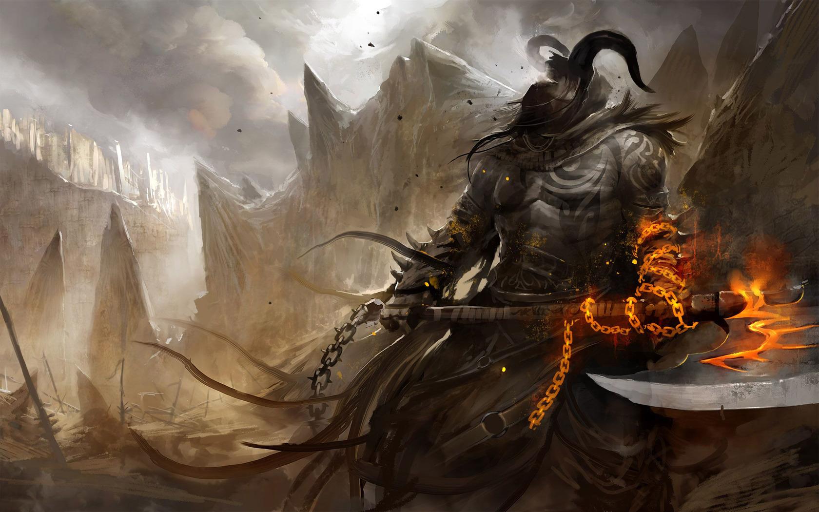 Download Demon warrior wallpaper 1680x1050