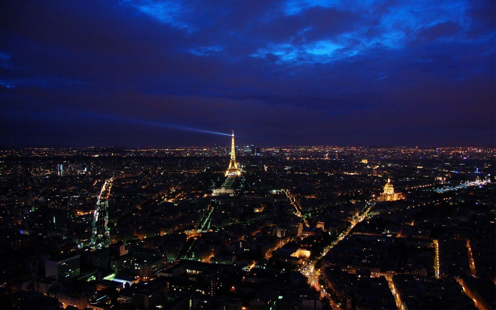 Paris City of Night Hd Desktop Wallpaper 1600x1000