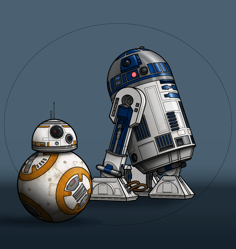 Free Download Droids R2 D2 And Bb 8 By Benjaminsapiens 900x950