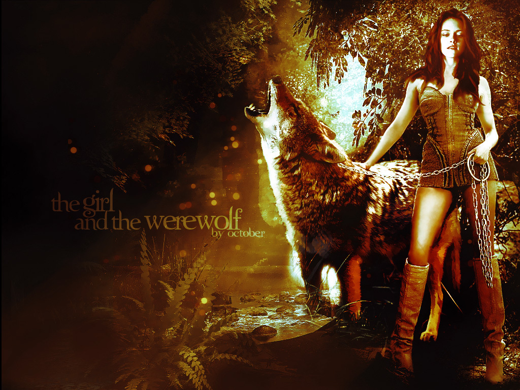 The Girl and the Werewolf   Twilight Series Wallpaper 6596514 1024x768