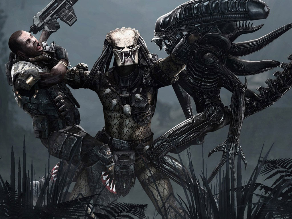 Aliens vs Predator wallpaper 1024x768