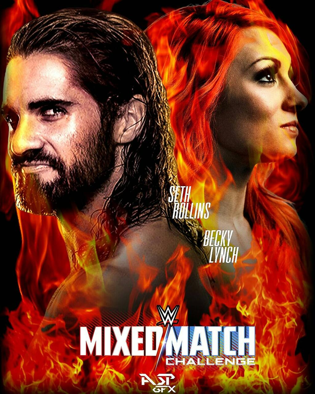 the men  Seth Rollins Becky Lynch by Aspgfx 1024x1280
