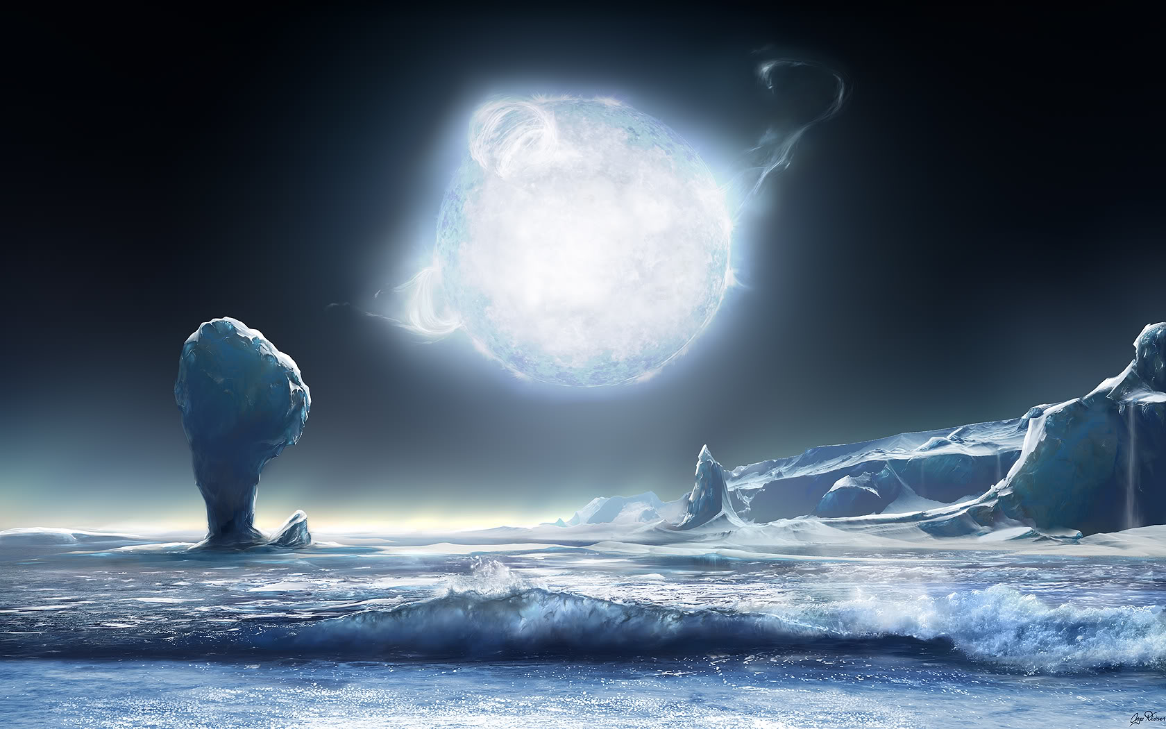 Download High quality Cold Fire Science Fiction (Sci-fi) wallpaper ...
