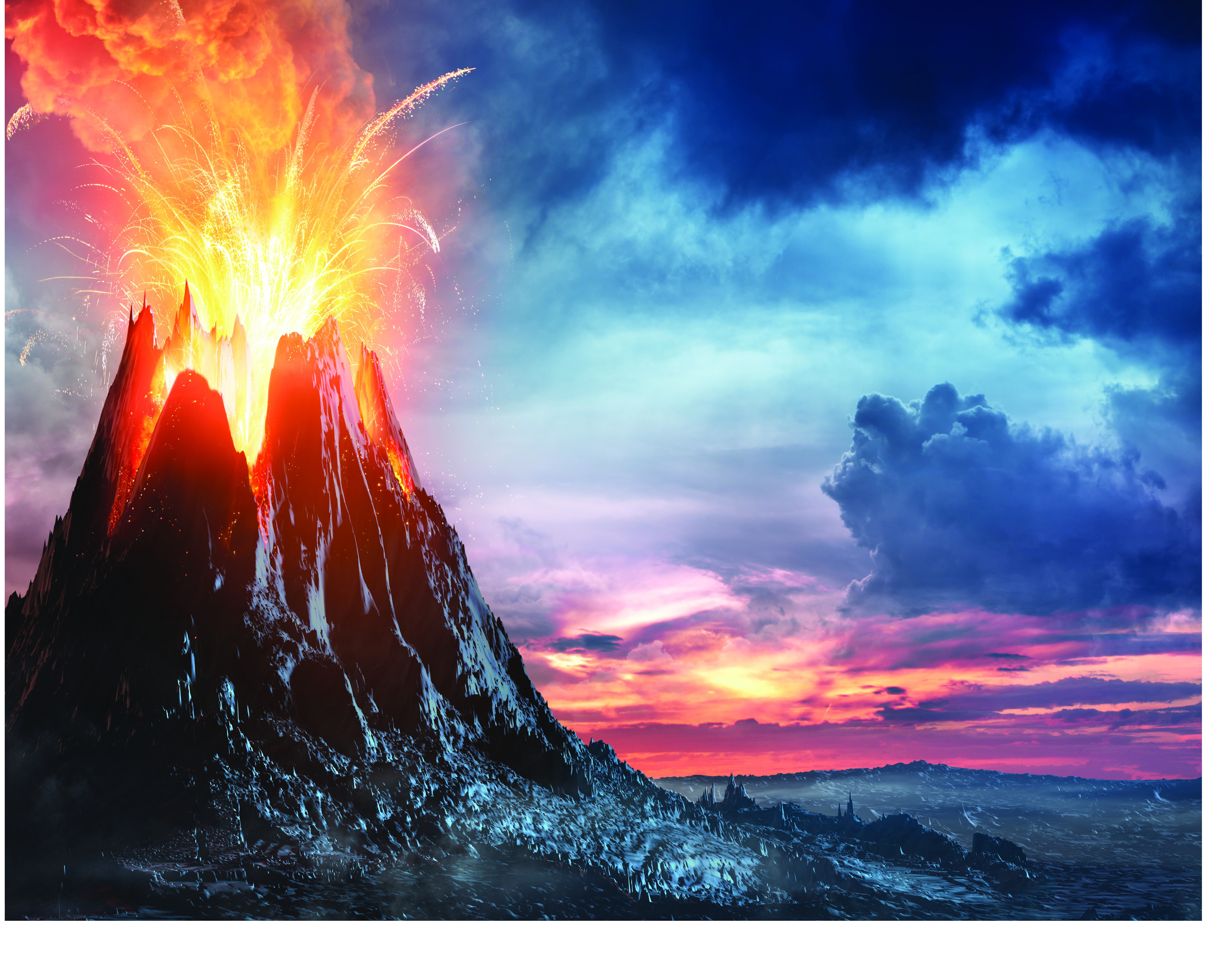 volcano Background ELISA Technologies Inc 8027x6275