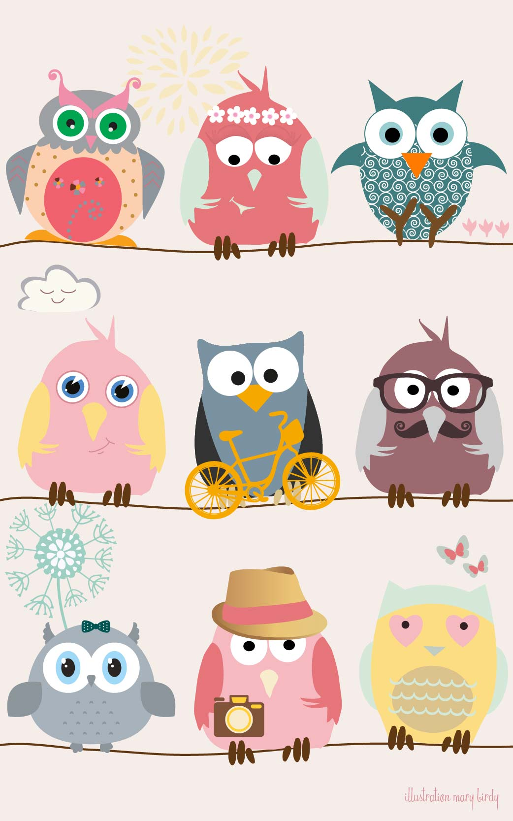 47 Cute Owl Iphone Wallpapers On Wallpapersafari