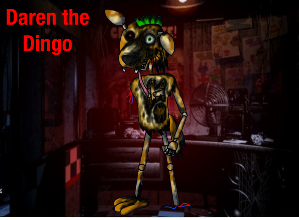 FNAF ADOPT Daren the burnt Dingo CLOSED by Little rolling bean on 1024x753