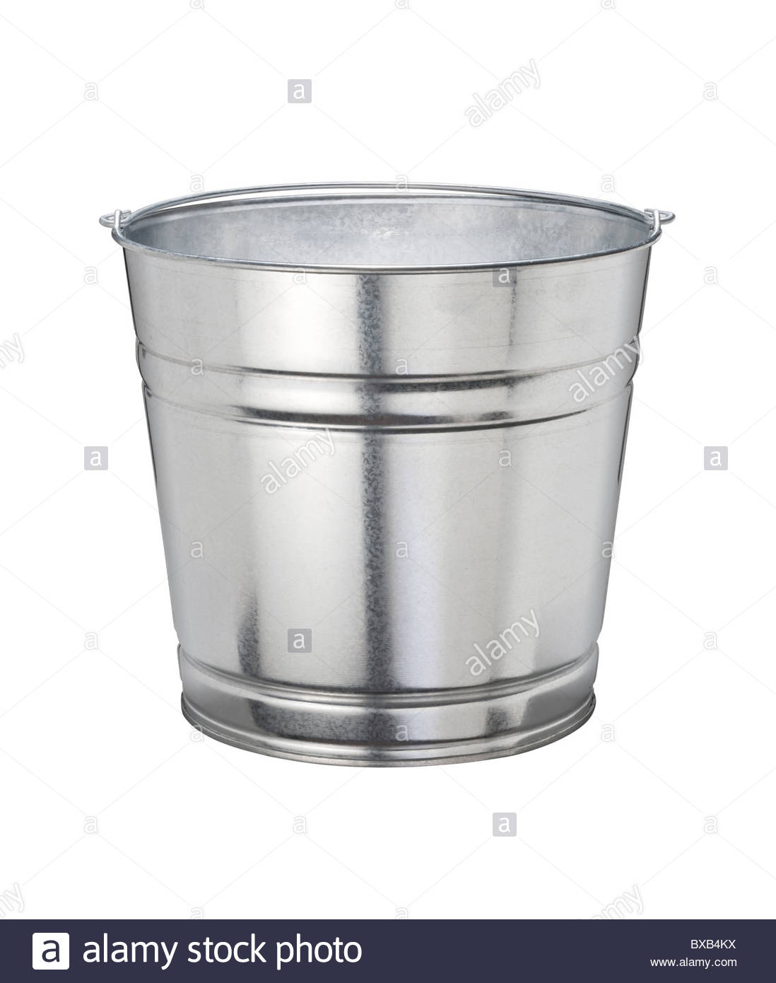 Aluminum Bucket isolated on a white background Stock Photo 1098x1390
