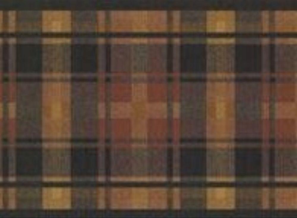 Wallpaper Border Traditional Tartan Plaid Tan Black eBay 1000x733