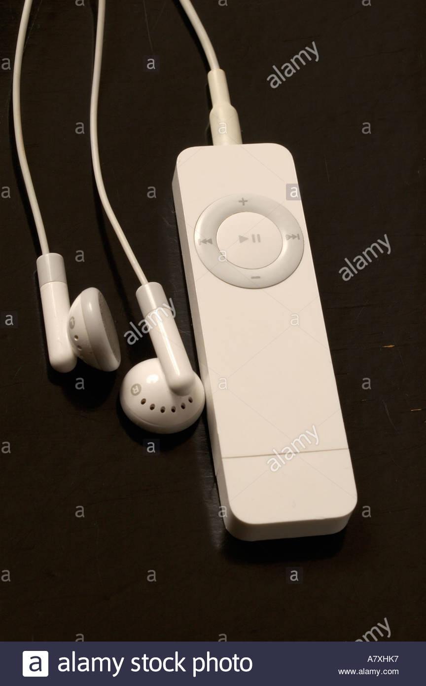 apple iPod shuffle on black background Stock Photo 6816502   Alamy 864x1390