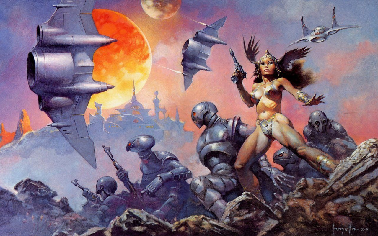 06 daruma frank frazetta dawn attack HD Wallpaper   General 628285 1280x800