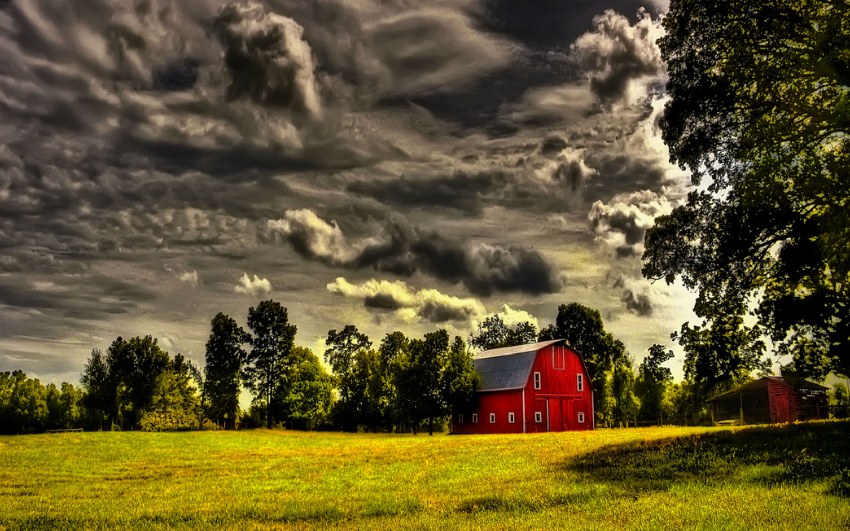 the red barn Wallpaper Background 37983 1680x1050