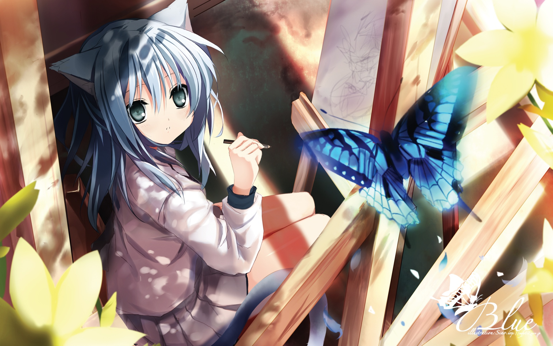 Wallpaper of The Week Neko Girl Randomness Thing 1920x1200