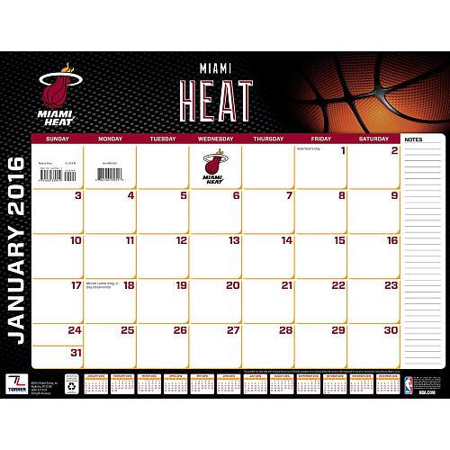 Turner Miami Heat 2016 22X17 Desk Calendar   Perfect Timing   ToysR 500x500