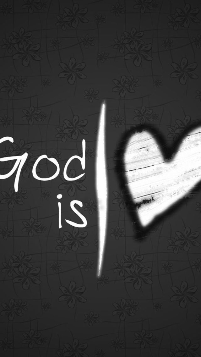 God Is Love Heart Wallpaper   iPhone Wallpapers 640x1136