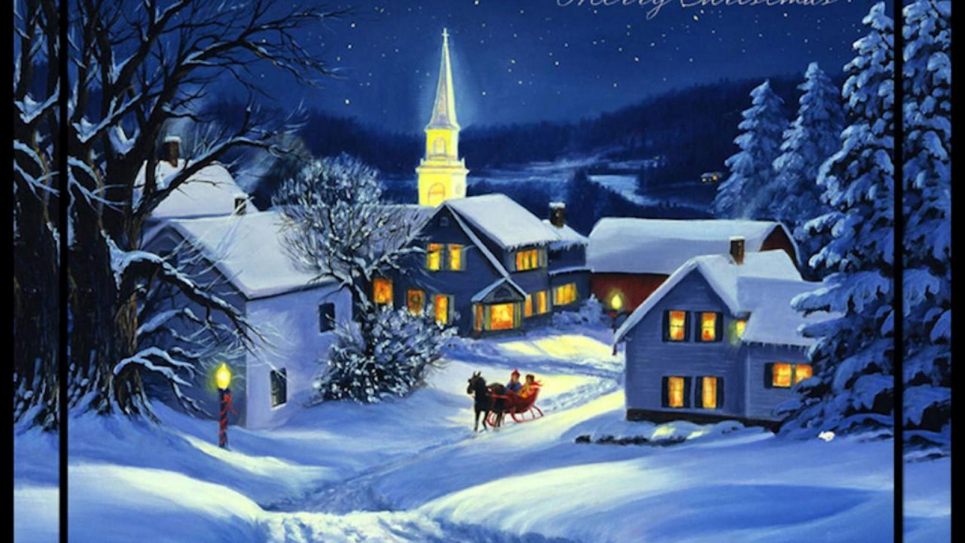 The Night Before Christmas Wallpaper Wallpapersafari