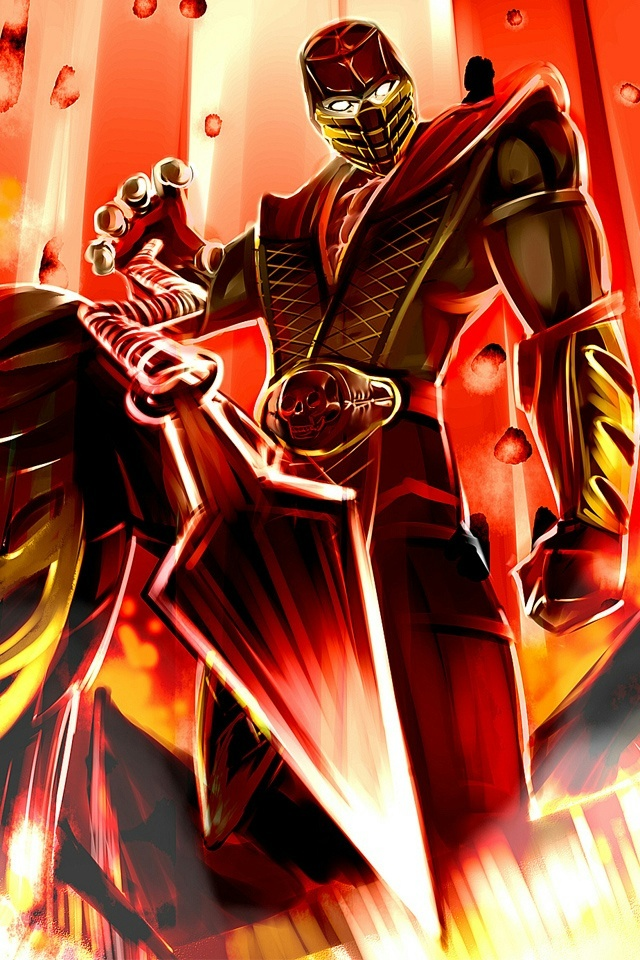 Scorpion Mortal Kombat iPhone 4 Wallpaper and iPhone 4S Wallpaper 640x960