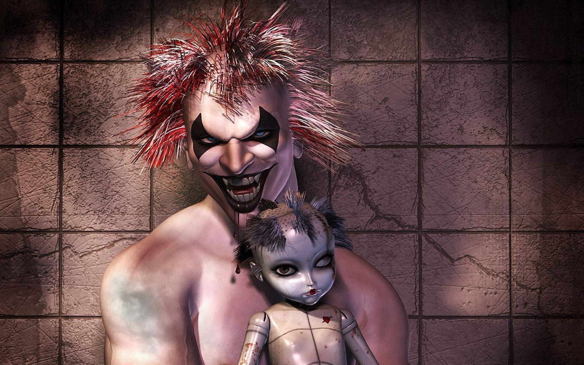 3D Evil Clown Wallpaper
