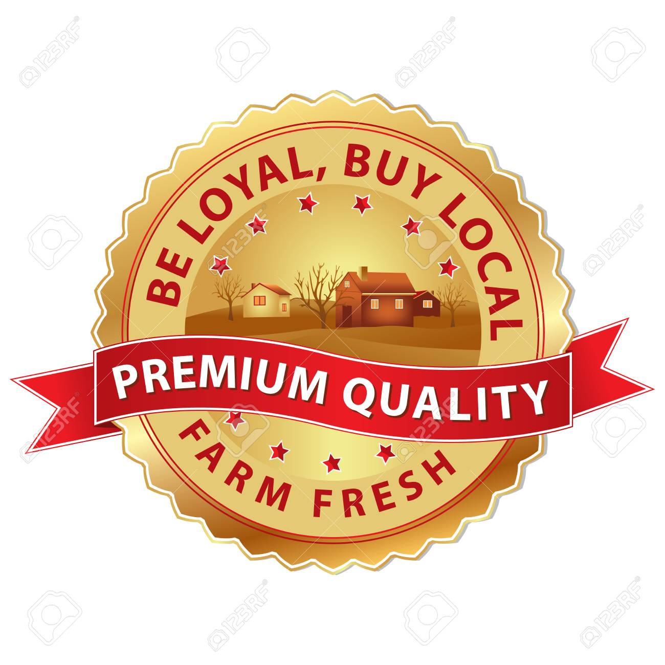 Buy Local Label With Ribbon Fresh Farm Buy Local Be Loyal 1300x1300