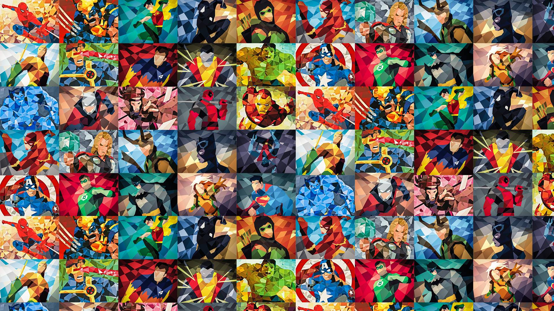 similar image search for post Superhero Collage [1920x1080]   Reverse 1920x1080
