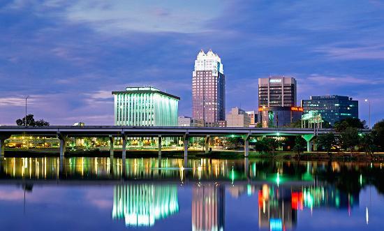 Orlando Florida at night wallpaper 550 x 331 Wallpaper 550x331