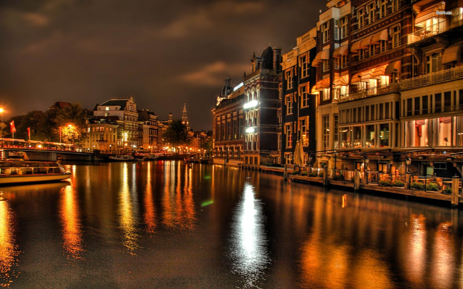 Venice Streets At Night HD Wallpaper Background Images 1920x1200