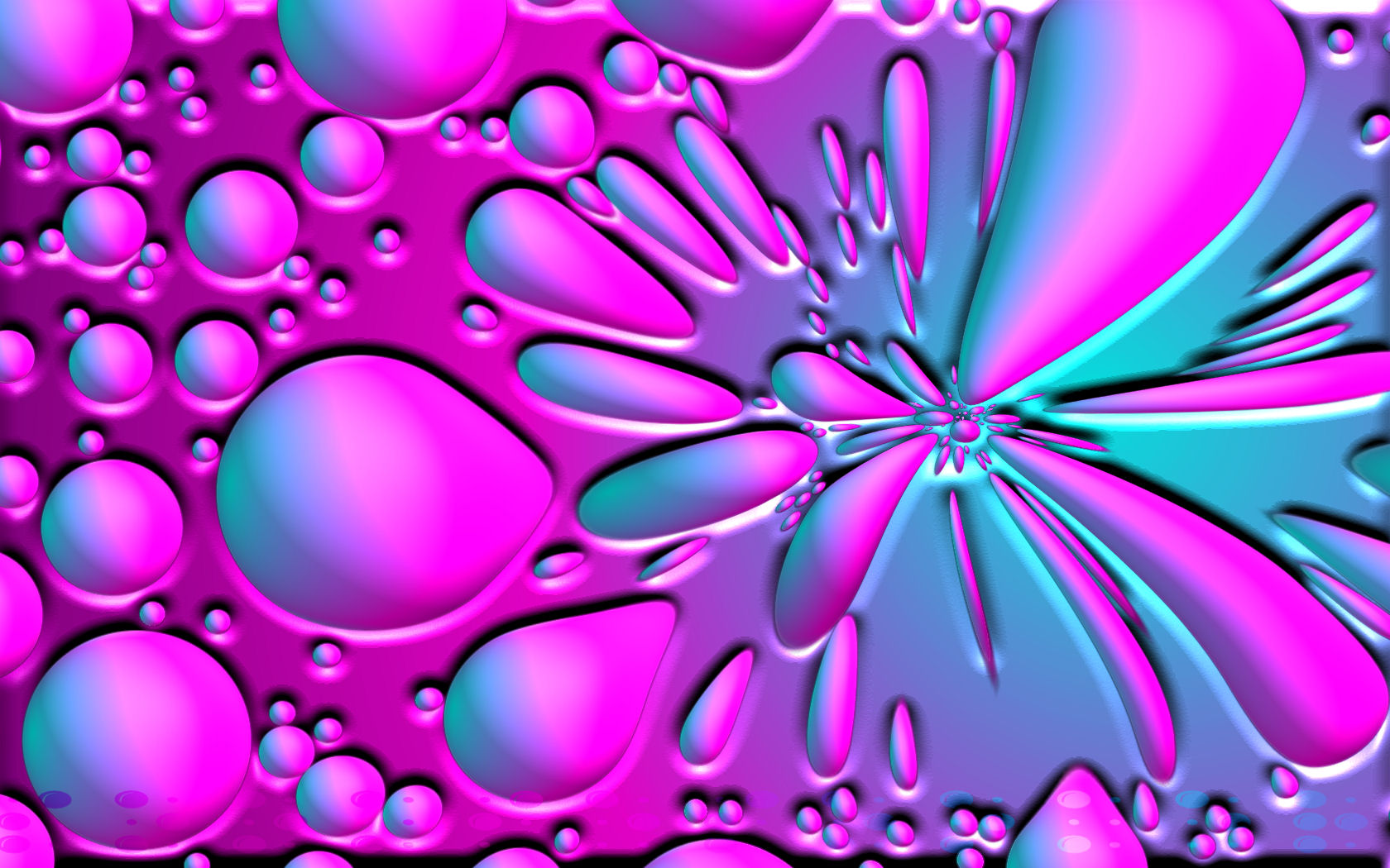 Pink and Blue Bubble 1680x1050