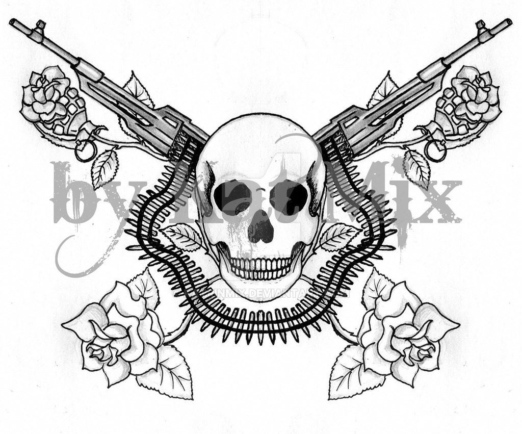Skulls And Guns Tattoos: Skulls And Guns Wallpaper