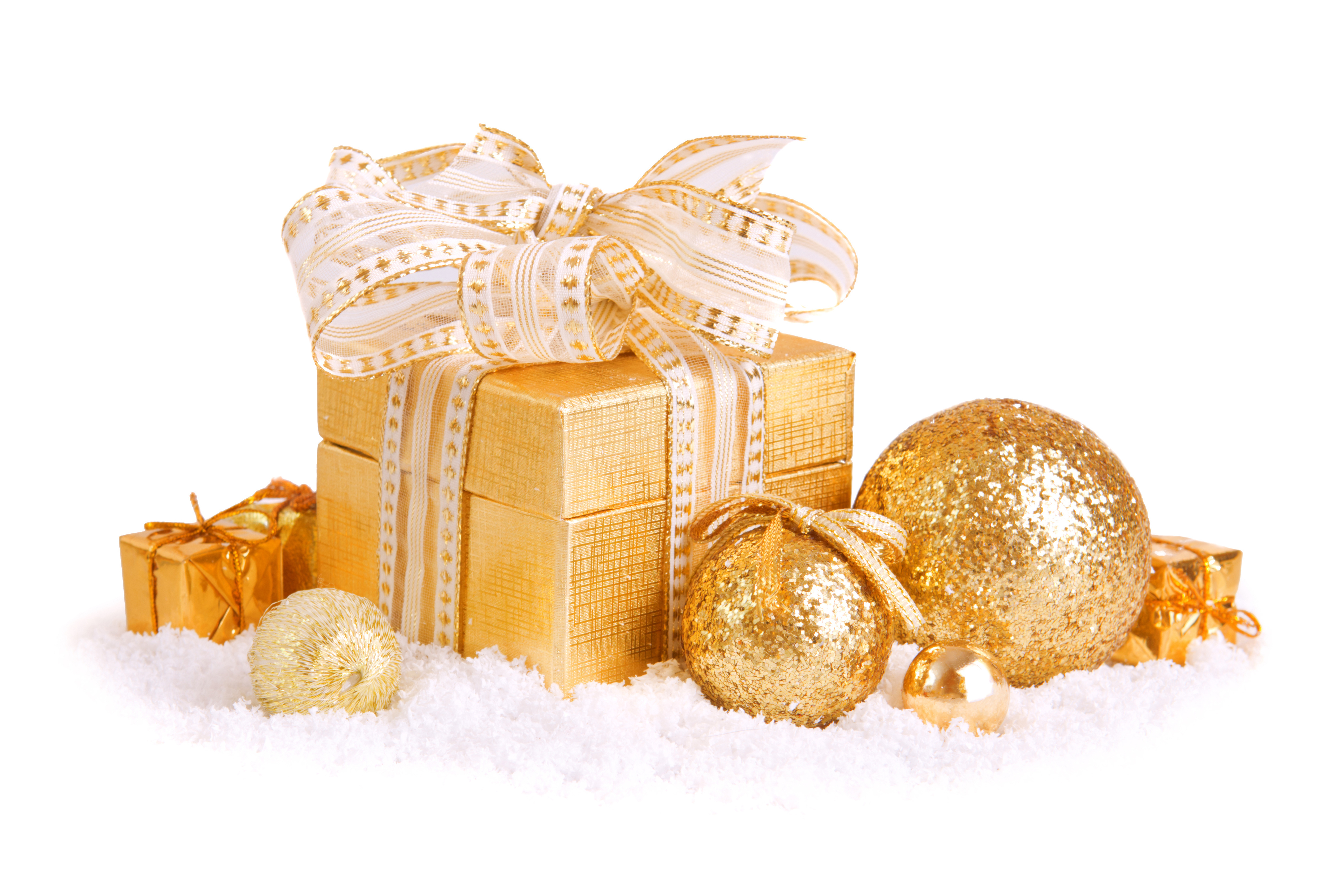 Christmas Box and balls wallpapers and images   wallpapers 4952x3301