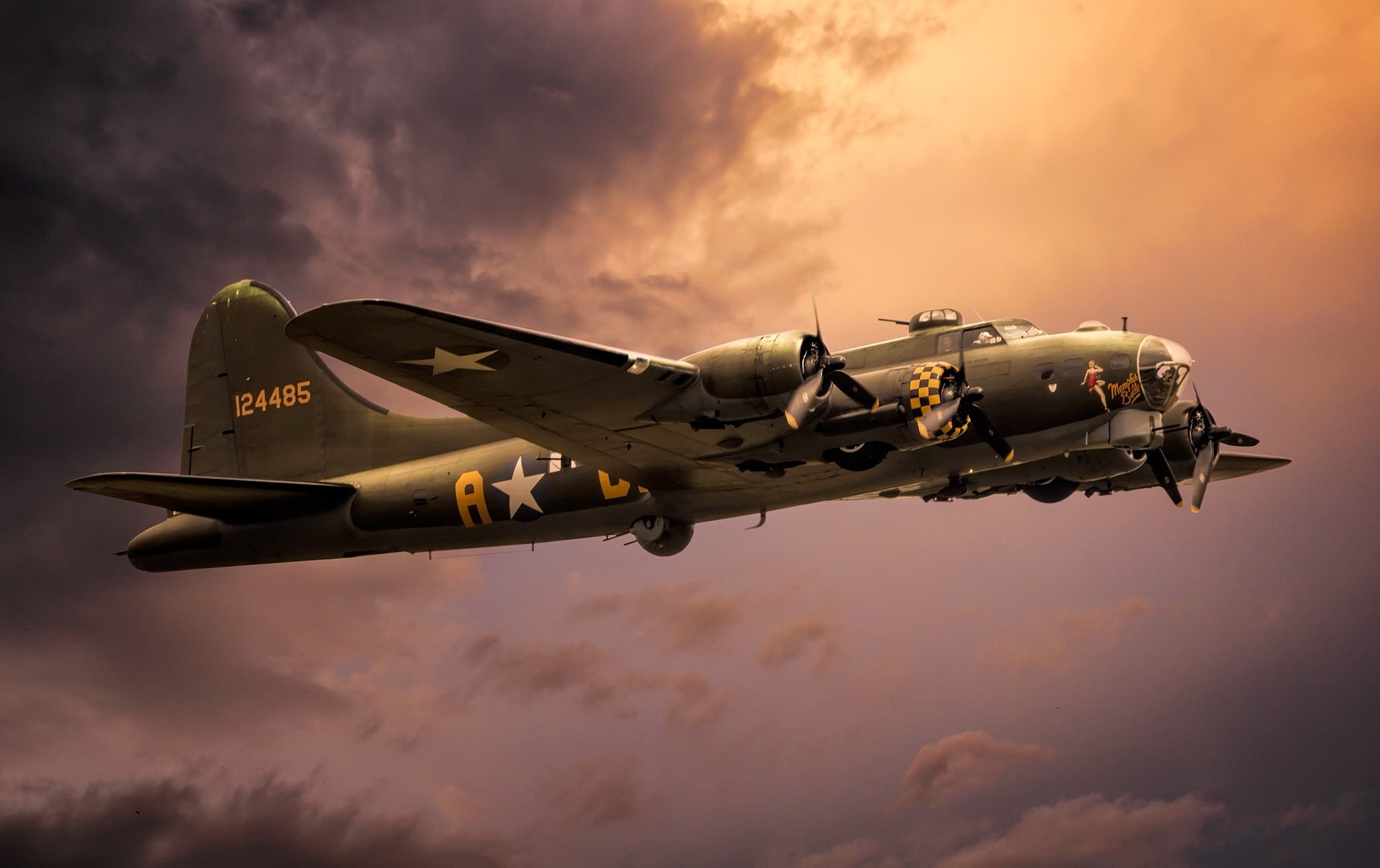 Boeing B 17 Flying Fortress HD Wallpaper Background Image 2047x1288