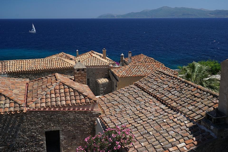 photo Greece Holidays Monument Monemvasia Summer Sea   Max Pixel 960x641
