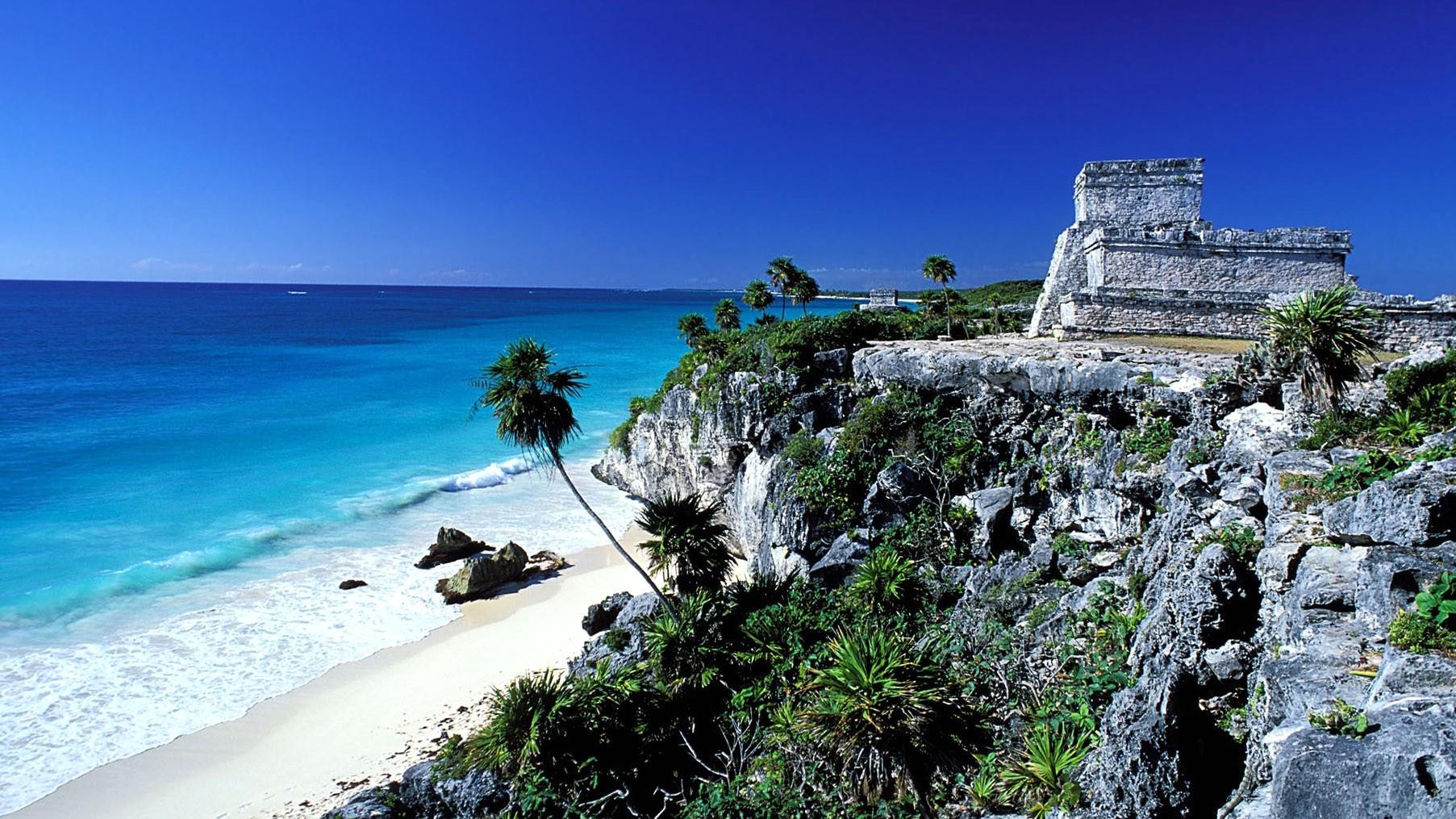 Tulum Mexico Summer HD Sea Wallpapers Ocean Summer Sun Sky 1805x1015