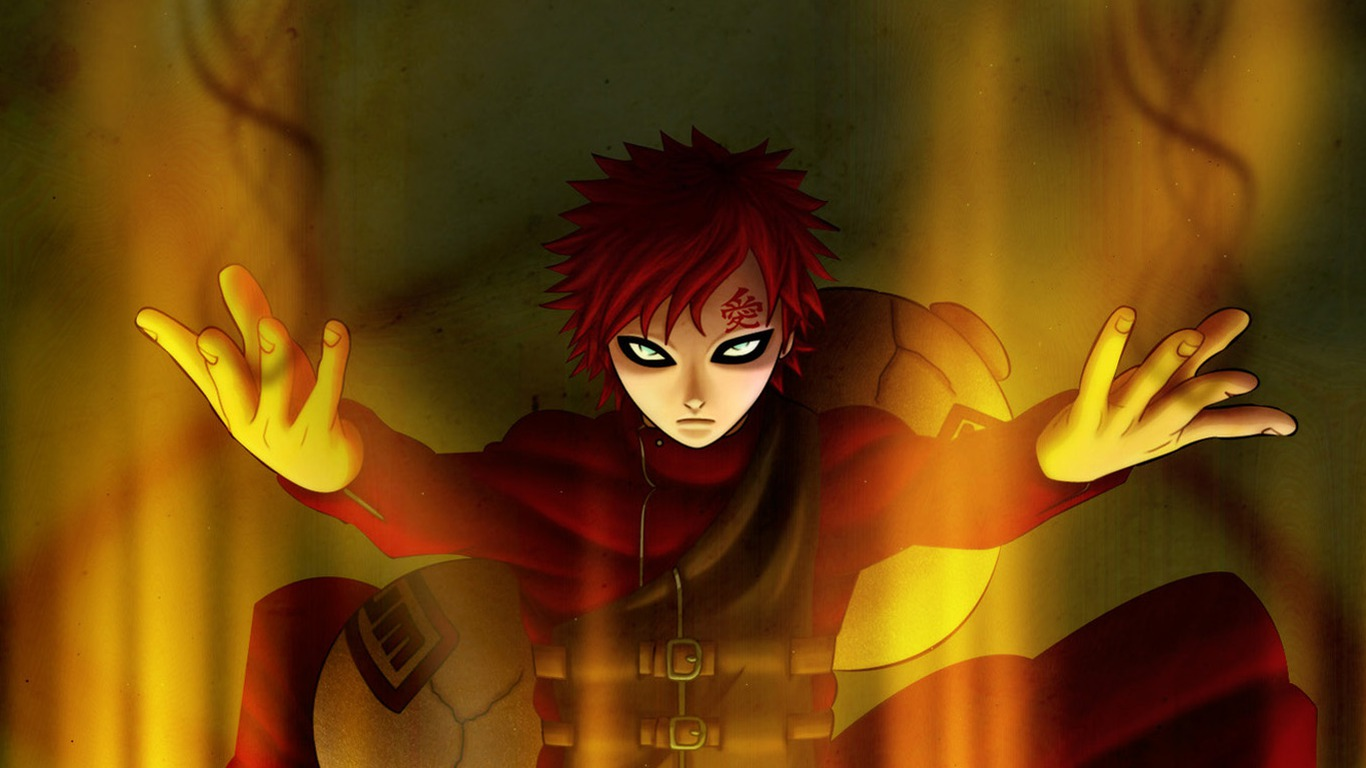 naruto vs gaara wallpaper 8239 hd wallpapersjpg 1366x768