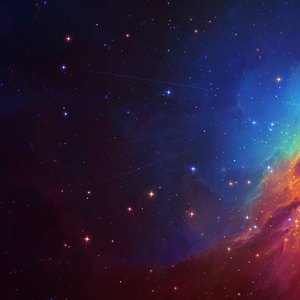 Beautiful Colourful Galaxy iPad Wallpaper Download iPhone Wallpapers 1024x1024