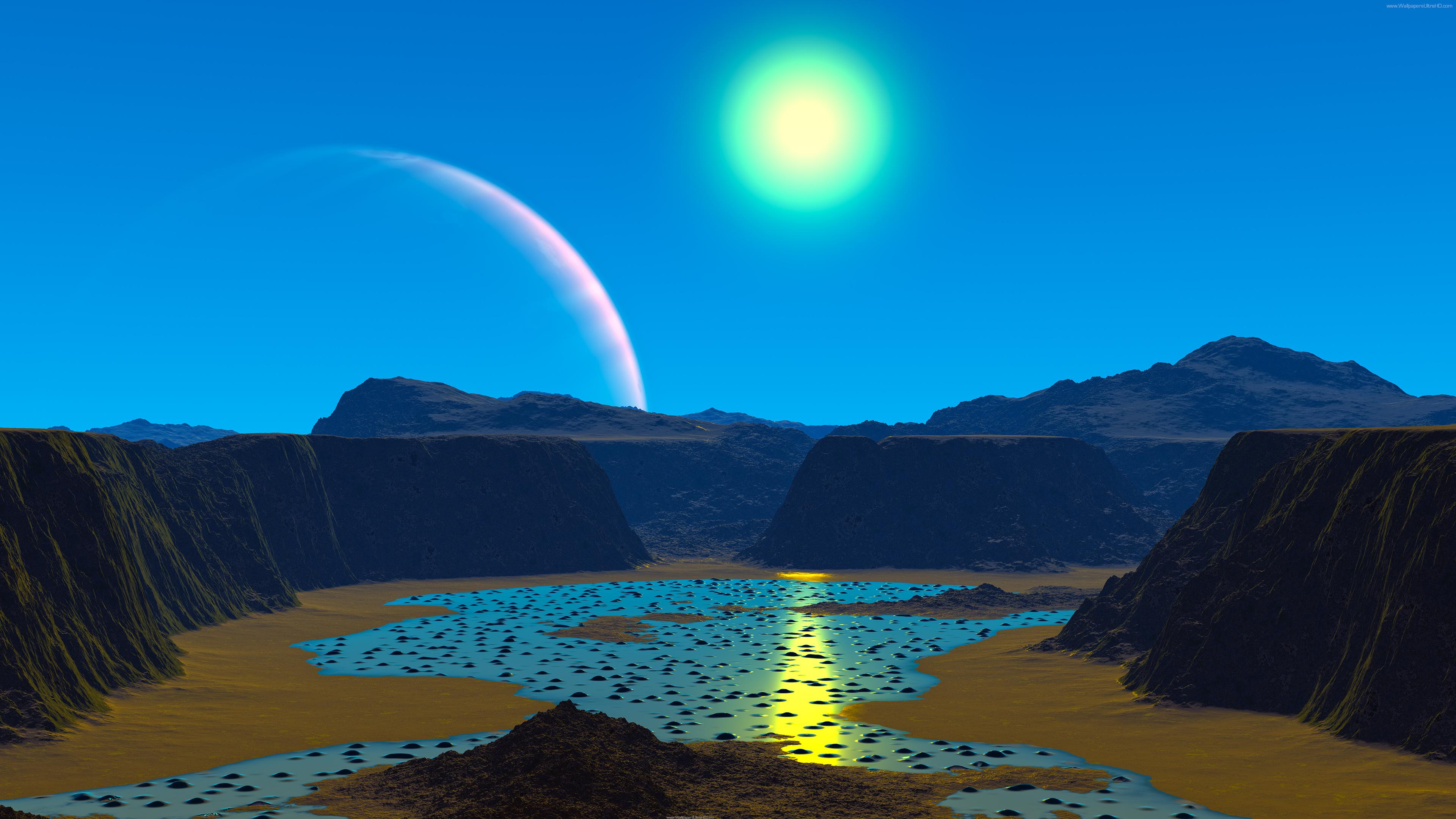 Ultra HD wallpapers 4K 3D Alien planet 3840x2160 3840x2160