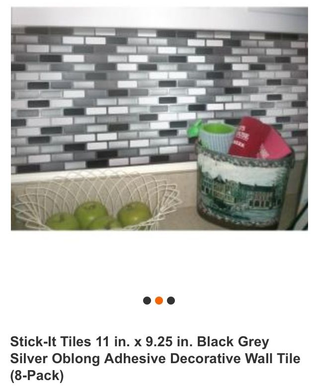 Peel and stick backsplash from Home Depot Must have 636x783