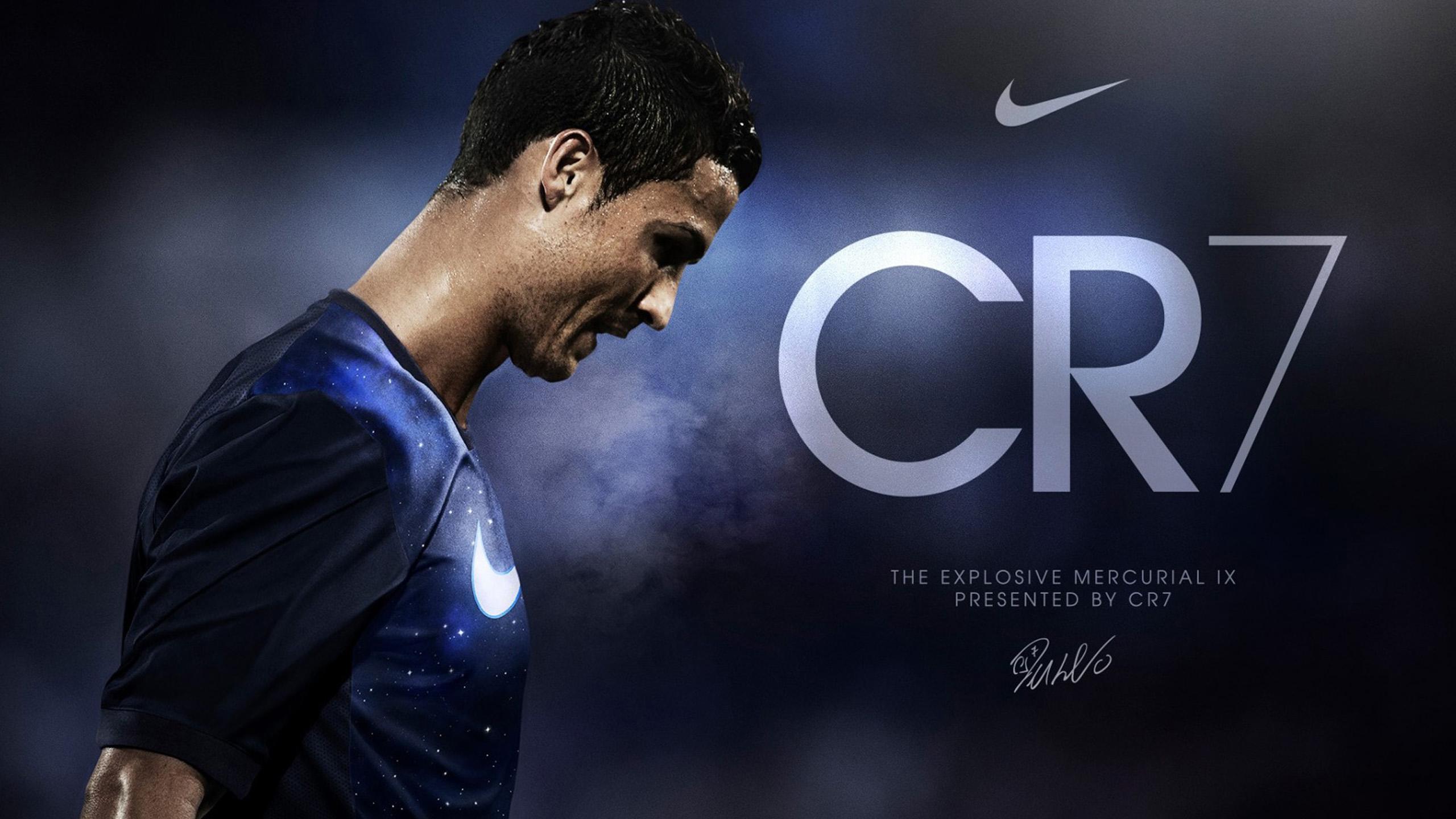 Cristiano Ronaldo Nike CR7 HD desktop wallpaper 2560x1440