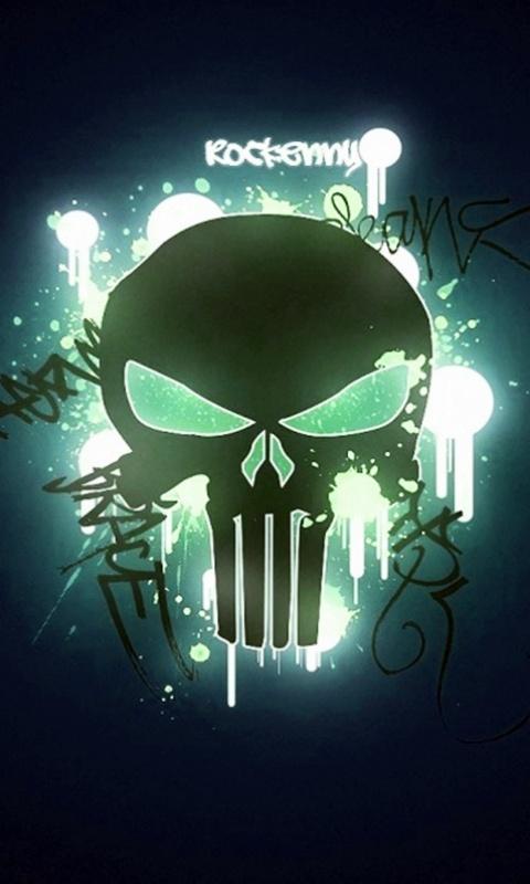 green skull wallpapers download download green skull 28259 480x800