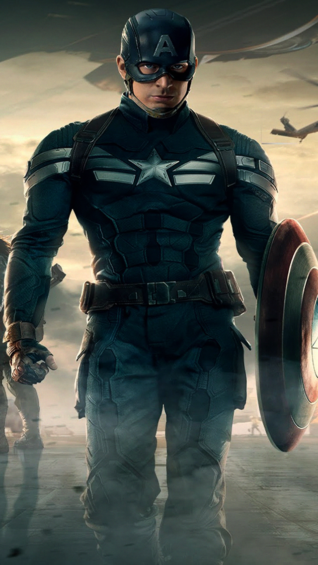 Captain America The Winter Soldier iPhone 5s Wallpaper Captain America 640x1136
