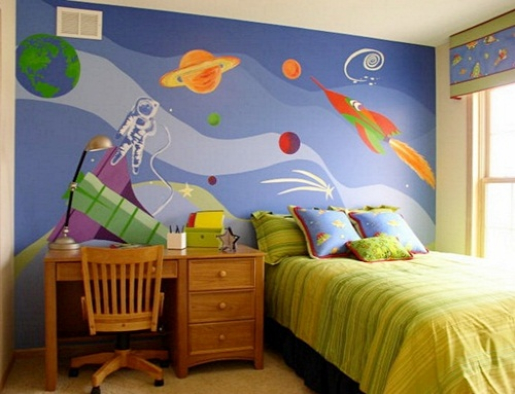 Beautiful and attractive kids bedroom wallpaper modern home design 1024x784