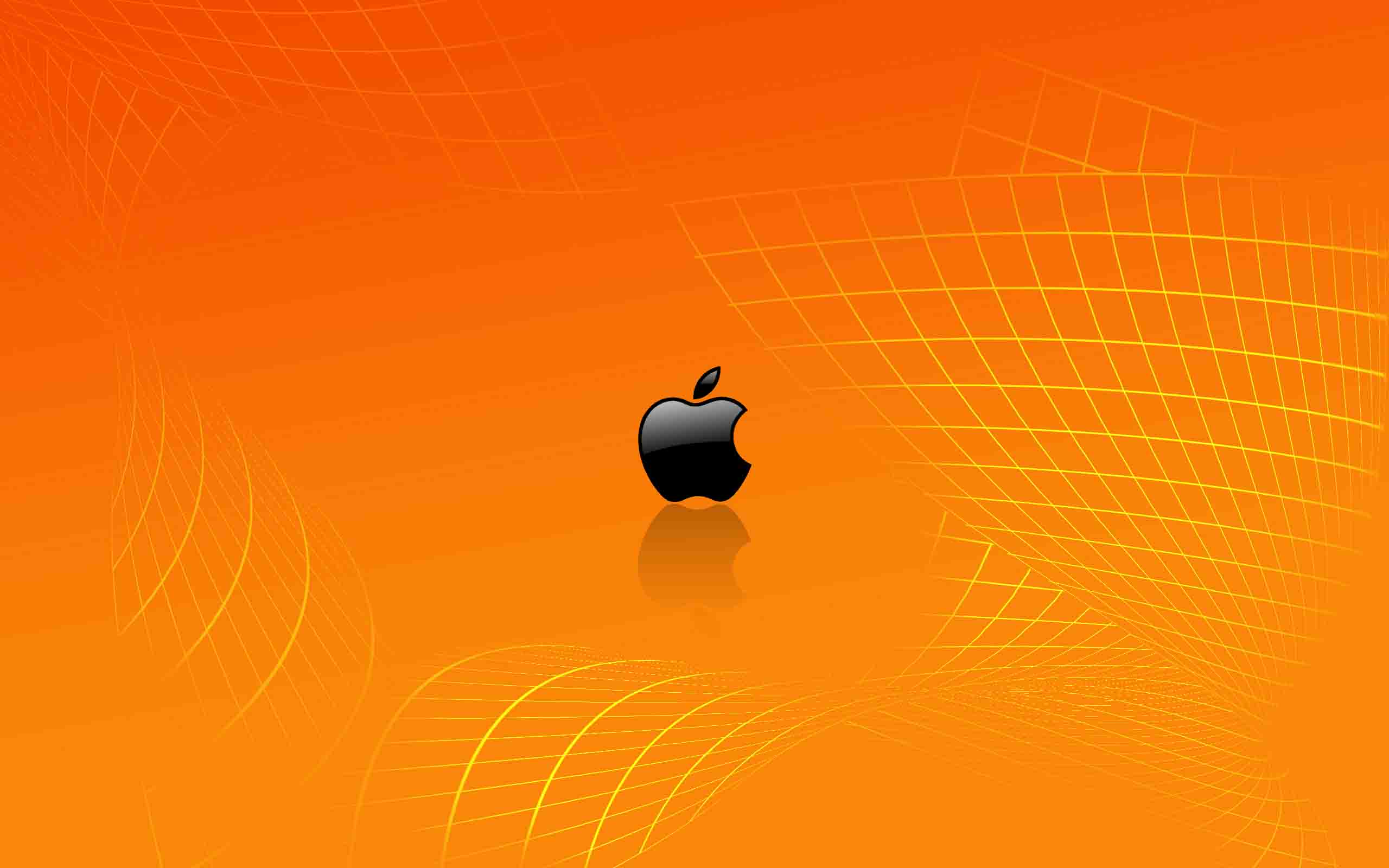 Cool Wallpapers with Orange Apple Logo HD Wallpapers for 2560x1600